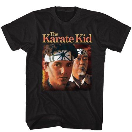 Karate Kid 1980s Martial Arts Movie Daniel & Miyagi Stare Adult T-Shirt Tee](1980s Girls)