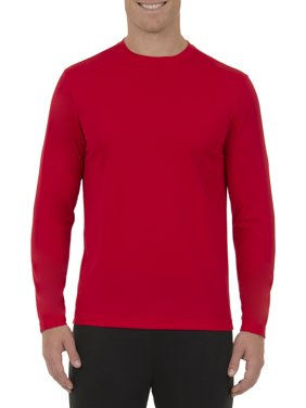 Athletic Works Big Men's Active Performance Long Sleeved Crew Neck Tee