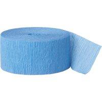 Baby Blue Crepe Paper Streamer, 81ft