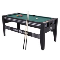 """Triumph 72"""" 4 in 1 Multi-Game Swivel Table with Air-Powered Hockey, Table Tennis, Billiards, and Launch Football"""