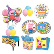 The Ultimate 16 Guest 94pc Peppa Pig Birthday Party Supplies