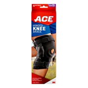 ACE Adjustable Hinged Knee Brace Allows Safe Motion and Strong Lateral Stabilization and Support, Black