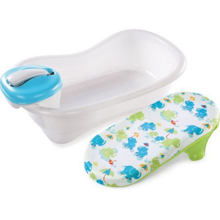 Summer Infant Newborn-to-Toddler Bath Center & Shower, Blue](Baby Bath Tubs Walmart)