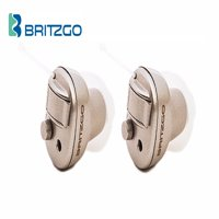 Pack of Two Britzgo Small Hearing Aid Amplifiers, Lightweight & Invisible BHA-603