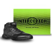 Interceptor Men's Canton Waterproof Work Boots, Slip Resistant, Black