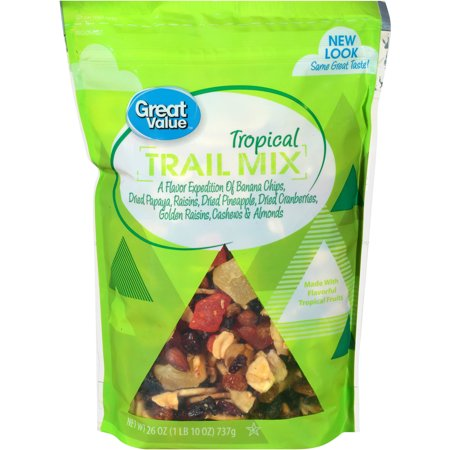 Great Value Tropical Trail Mix, 26 (Seeds Trail Mix Bar)
