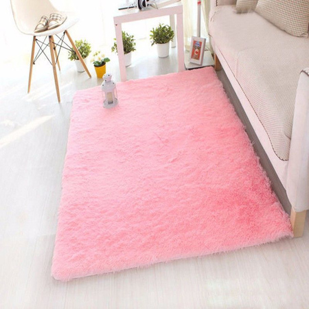 NK HOME Rug Ultra Soft Rectangular Area Rug Fluffy Carpet Fashion Color Fluffy Rugs Anti-slip Nursery Rug for Bedroom Girls Room Home Decoration Red Pink Grey-Four Size to Choose](Decorate Your Living Room Halloween)