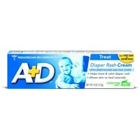 A+D Zinc Oxide Diaper Rash Cream with Aloe 4 oz (Pack of 2)