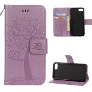 ce2eda8b61d iPhone 6 Plus/ 6S Plus Wallet case, Allytech Pretty Retro Embossed Owl Tree  Design