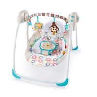 Bright Starts Portable Swing with WhisperQuiet Technology - Petite Jungle