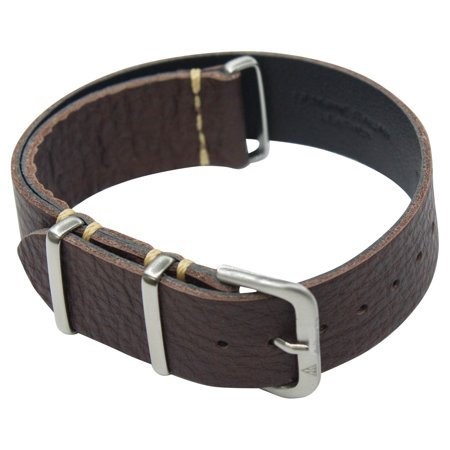18mm One Strap, Italian Leather Shrunken Chocolate Brown
