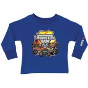 0f5f37ad6 Personalized Monster Jam Challenge Boy's Royal Blue Long Sleeve Tee