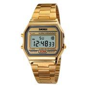 7f8d2dfc32 SKMEI Cool Digital Men Women Bussiness Wristwatch Luxury Vintage Luminous Couple  Watch 3ATM Water-resistant