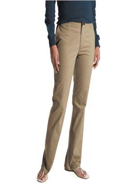 Women's Slim Fit Straight Leg Bootcut Stretch Twill Pants