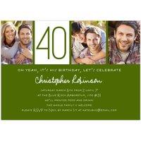 Custom Milestone Birthday Milestone Invitation