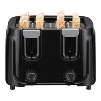 Mainstays Four Slice Toaster, 6-Setting, Black