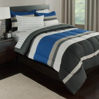 Rugby Stripe Reversible Bed-In-A-Bag Bedding Set Available In Multiple Colors