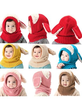 Product Image Dog Style Comfortable Winter Baby Hat and Scarf Joint Knitted  Caps for Infant Boys Girls 73b8f31dabc7