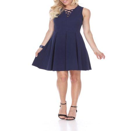 Women's Shay Fit & Flare (Blue Womens Dress)