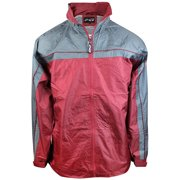 66b514dd0 size SMALL Pier Connection Inc Men's Windbreaker Rain Coat Sport Active  Jacket 5504SAN Burgundy Charcoal Red