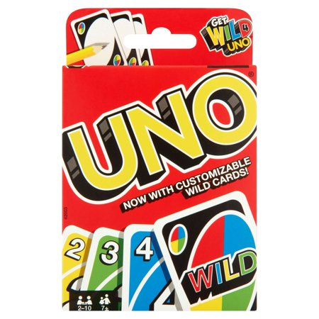 Uno Color Number Matching Card Game For 2 10 Players Ages 7y