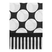 Bacati Window Valance Black/White Dots/Pin Stripes, 1.0 CT