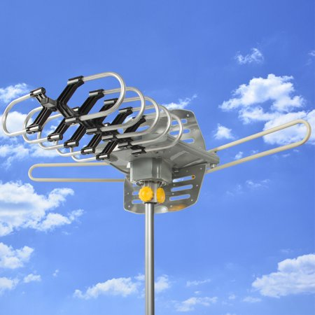 Best Choice Products HDTV Motorized Remote Outdoor Amplified Antenna 360° UHF/VHF/FM HD TV 150