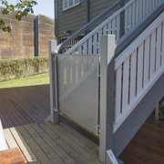 Perma Outdoor Retractable Gate, Extra Wide 71 in, Gray