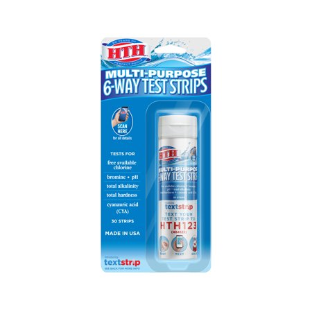 HTH Multi-Purpose 6-Way Test Strips for Swimming (New Pool Test)