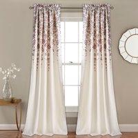 Weeping Flower Room Darkening Window Curtain Set