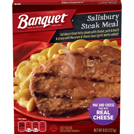 Banquet Basic Salisbury Steak With Mac And Cheese Frozen Single