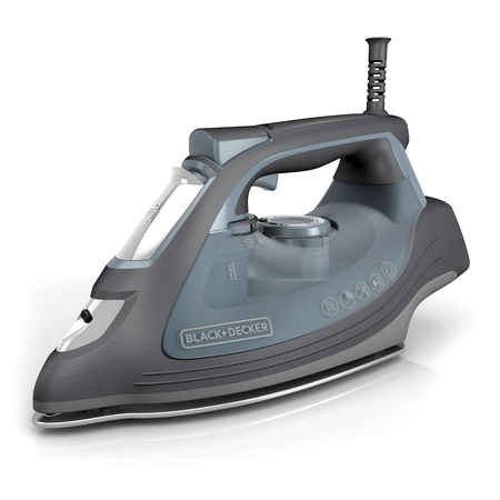 BLACK+DECKER IMPACT Advanced Steam Iron with Maximum Durability and 360° Pivoting Cord, Gray, IR3000