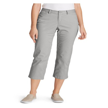 Eddie Bauer Women's Legend Wash Stretch Cropped Pants - Curvy Fit