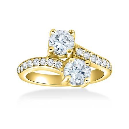 2 Ct Forever Us 2 Stone Diamond Engagement Ring 14k Yellow Gold 2 Ct Diamond Solitaire Engagement Ring