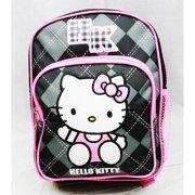 efe3cf1d92c Mini Backpack - Hello Kitty - Black Checker New School Bag Book Girls 82092