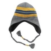 0f7d737a7d5e8 Ben Berger Boys Gray Blue   Yellow Stripes Fleece Lined Peruvian Trapper Hat