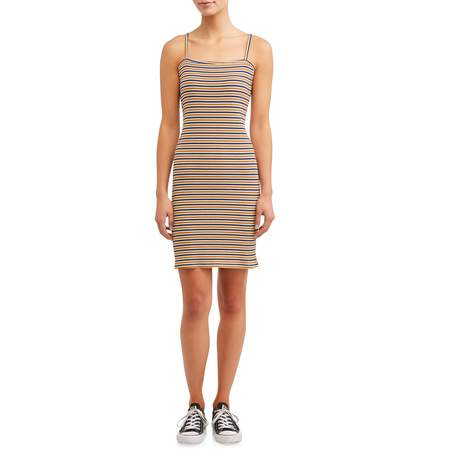 Eye Candy Juniors' Spaghetti Strap Bodycon Rib Dresses