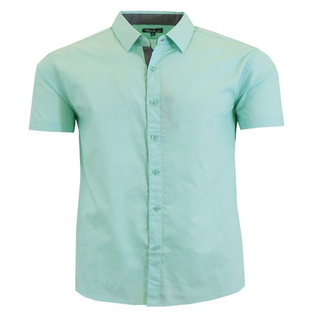 - Mens Short Sleeve Dress Shirts Casual Slim Fit