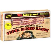 Falls Brand Bacon Thick Sliced Hardwood Smoked Twin Pack Meat, 32 oz