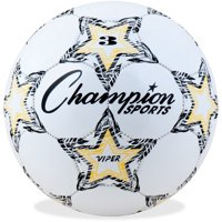 Champion sports viper soccer ball, size 3 (white and yellow)