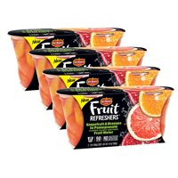 (4 Pack) Del Monte Fruit Refreshers Grapefruit & Oranges in Pomegranate Water, 7 oz Cup, 2 Count Box