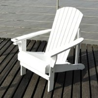 Outsunny Outdoor Patio Adirondack Chair - White