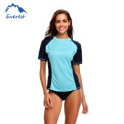 9d282b09390 FeelGlad Women's Swim Tee Short Sleeve Swimming Shirt Athletic Top Rashguard  Top, ...