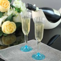 Efavormart 60 Pcs Disposable Clear Plastic  Champagne Flutes for Wedding Birthday Party Banquet Events Cocktail Cups