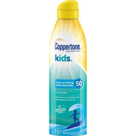 Coppertone Kids Sunscreen Water Resistant Spray SPF 50, 5.5 oz