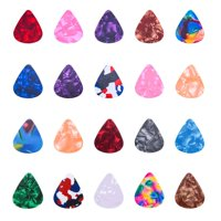 20 PCS Stylish Colorful Celluloid Guitar Picks Plectrums for Guitar Bass Ukulele
