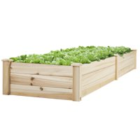 Best Choice Products Wooden Raised Garden Bed- Natural