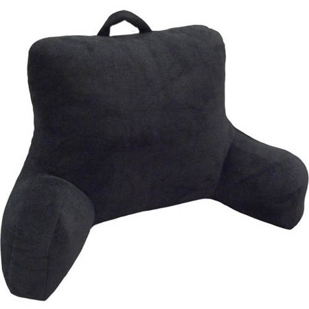 Jardine Backrest - Mainstays Micro Mink Plush Backrest Lounger Pillow, Rich Black