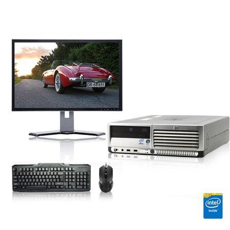 - Refurbished - HP DC Desktop Computer 2.4 GHz Core 2 Duo Tower PC, 4GB, 160GB HDD, Windows 7 x64, 17