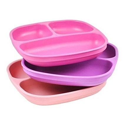 Re-Play 3-Pack Divided Plates, BPA-Free ()